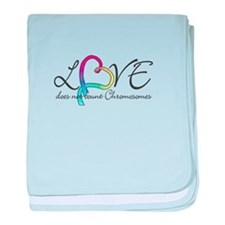 Love doesn't count Chromosome baby blanket