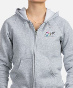 Love doesn't count Chromosome Zip Hoodie