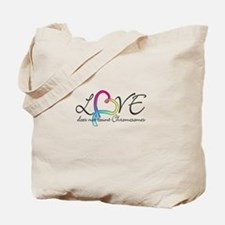 Love doesn't count Chromosome Tote Bag