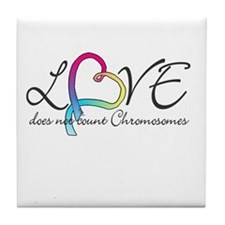 Love doesn't count Chromosome Tile Coaster
