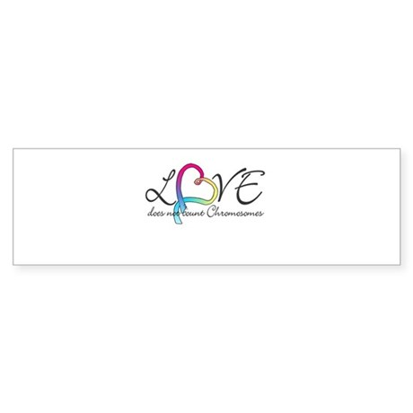 Love doesn't count Chromosome Sticker (Bumper)