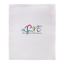 Love doesn't count Chromosome Throw Blanket