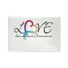 Love doesn't count Chromosome Rectangle Magnet