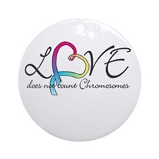 Love doesn't count Chromosome Ornament (Round)