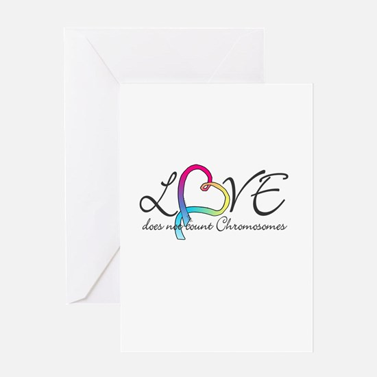 Love doesn't count Chromosome Greeting Card