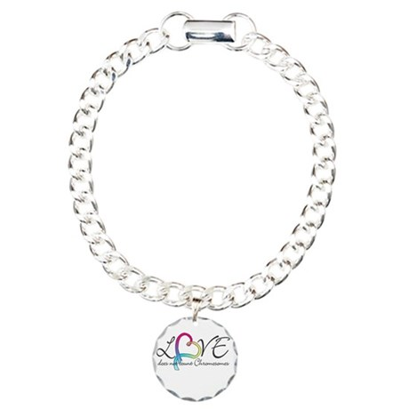 Love doesn't count Chromosome Charm Bracelet, One