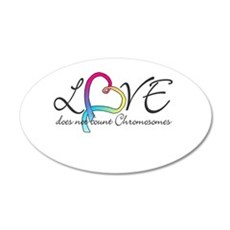 Love doesn't count Chromosome 22x14 Oval Wall Peel