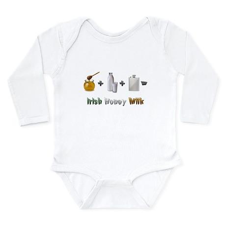 """Irish Honey Milk"" Long Sleeve Infant Bodysuit"