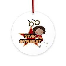 Star Gymnast Ornament (Round)