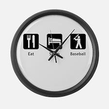 Eat Sleep Baseball Large Wall Clock