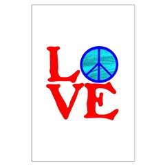 LOVE with PEACE SYMBOL Posters