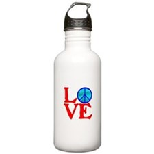 LOVE with PEACE SYMBOL Water Bottle