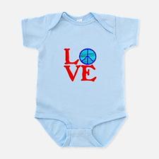 LOVE with PEACE SYMBOL Infant Bodysuit