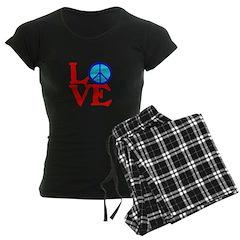 LOVE with PEACE SYMBOL Pajamas