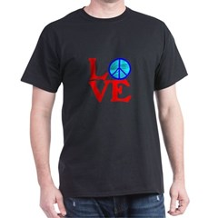 LOVE with PEACE SYMBOL T-Shirt