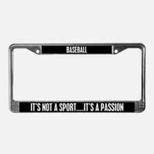 Baseball It's a Passion License Plate Frame