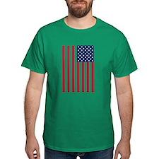 US Flag (round) T-Shirt