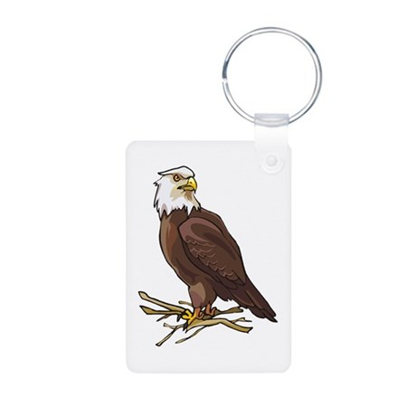 Bald Eagle Aluminum Photo Keychain