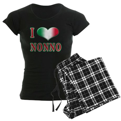 I love nonno Women's Dark Pajamas