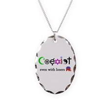 Co-Exist with Republicans Necklace