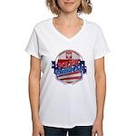 Polish American Women's V-Neck T-Shirt