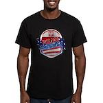 Polish American Men's Fitted T-Shirt (dark)