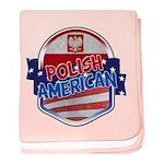Polish American baby blanket