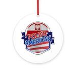 Polish American Ornament (Round)