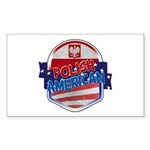 Polish American Sticker (Rectangle)
