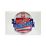 Polish American Rectangle Magnet