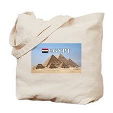 Giza Pyramids in Egypt Tote Bag