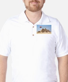 Giza Pyramids in Egypt Golf Shirt