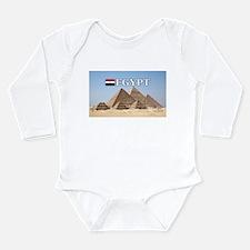 Giza Pyramids in Egypt Long Sleeve Infant Bodysuit