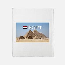 Giza Pyramids in Egypt Throw Blanket