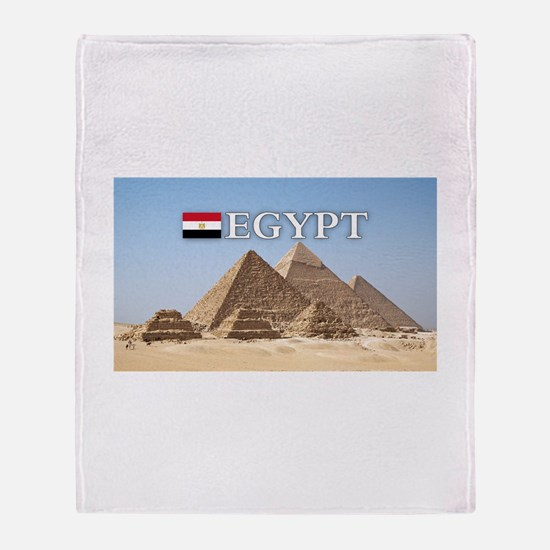 Giza Pyramids in Egypt Throw Blanket