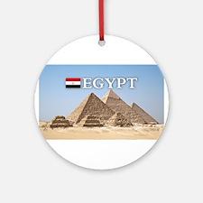 Giza Pyramids in Egypt Ornament (Round)