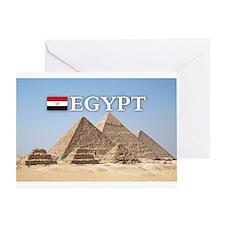 Giza Pyramids in Egypt Greeting Card