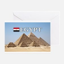 Giza Pyramids in Egypt Greeting Card