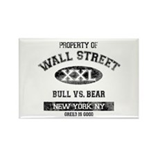 Property of Wall Street Rectangle Magnet