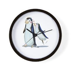 pEnGuIn KiSs Wall Clock