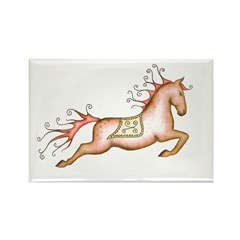 Capriole Horse Rectangle Magnet (10 pack)
