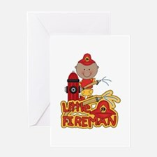 AA Fireman With Hose Greeting Card