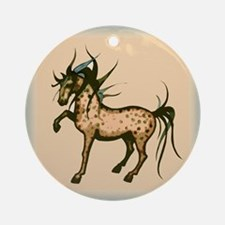 Wild and Free Horse Ornament (Round)