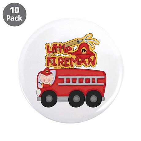 """Little Fireman 3.5"""" Button (10 pack)"""