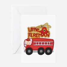 Little Fireman Greeting Card