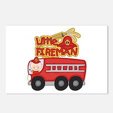 Little Fireman Postcards (Package of 8)
