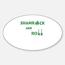 Rock and Roll Shamrock Guitars Decal