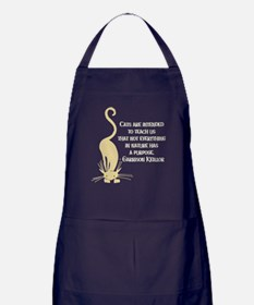 Cats Teach Us Apron (dark)