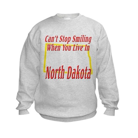 Can't Stop Smiling in ND Kids Sweatshirt