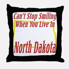 Can't Stop Smiling in ND Throw Pillow